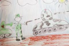 Рисунки детей к 9 мая
